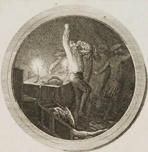CHODOWIECKI, 'Aus dem Leben eines Liederlichen' mit Trinkgelage, 18. Jh., Rad