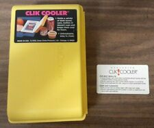 Vintage Mini CLIK COOLER Insulated Drink Juice Box 7x4x3 Yellow Insulin Diabetes