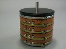 Beckman Helipot Servo Clamp Ring 4 Gang Potentiometer NL5713-505-2 - New