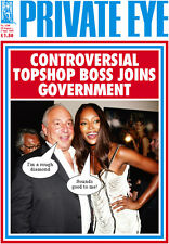 PRIVATE EYE 1269 - 20 Aug - 2 Sep 2010 -  Phillip Green Naomi Campbell - TOPSHOP