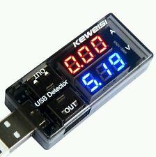 USB Detector Voltage Testeur de Tension Courant USB 3v - 9v