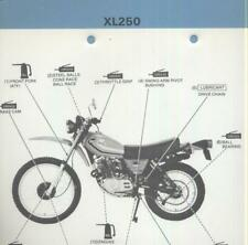 Honda XL250S (1978 >>) Official Factory Repair Manual Book XL 250 Twin-Port CS40