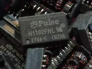 Pulse H1102 FNL 10/100base ethernet transformer SMD SDIP16 1pc. / lot