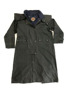 The Australian Outback Collection Oilskin Duster Mens XXL Black Jacket