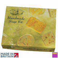 Natural Handmade Soap Making Starter Craft Kit Gift Set Fragrance Moulds Petals