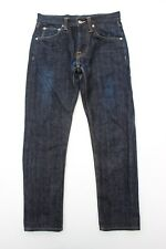 Edwin Selvedge Dark Navy Blue ED-55 Regular Tapered Button Fly Jeans - W28 L28