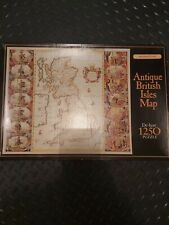 """De-luxe 1250 jigsaw Puzzle """"Antique British Isles Map"""" by Waddingtons. Complete"""