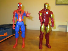 "Marvel Spiderman & Ironman Avengers Titan Heroes 12""  Action Figures 2013 Hasbro"