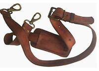 "48"" Long Replacement Bag Strap Brown  Gold Hardware F Leather Shoulder Bag"