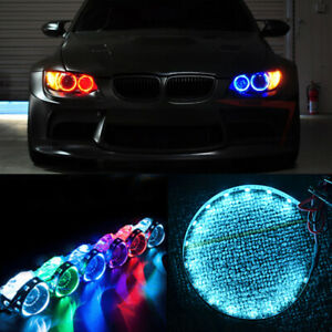 Ice Blue 15LED LED Devil Demon Eyes Light Projector Headlight Universal Car