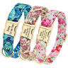 Personalised Floral Dog Collar Adjustable Custom Pet ID Collar Flower Printing