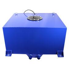 20 Gallon Polished Aluminum Race Drift Fuel Cell Tank Level Sender Hot Rod Blue
