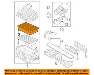AUDI OEM 15-16 A3 Engine-Air Cleaner Filter Element 5Q0129620B