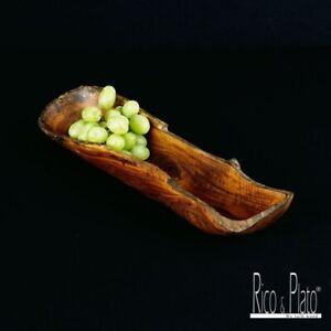 Rustic Teak Wooden Bowl Hand Carved Natural Fruit & Snack or salad Bowl