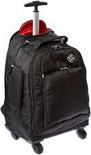 Backpack With Wheels Luggage Spinner Carry On Airplane Travel Flight Laptop Bag