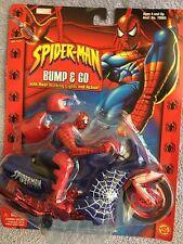 SpiderMan Bump & Go Cycle  Action Figure, on original hanger 2002 Toybiz