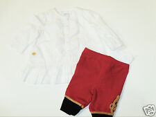 NWT Girl Ralph Lauren Tunic Blouse Braided Military Leggings Pants Outfit 3M Set