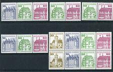 Bund Zd W 71 - W 74 + H Blatt 28 Zusammendrucke postfrisch Burgen und Schlösser