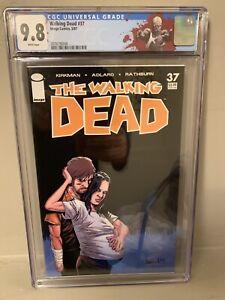 The Walking Dead #37 CGC 9.8 Custom WD Zombie Label