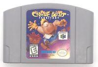 CHARLIE BLASTS TERRITORY Nintendo 64 N64 Cartridge: Cleaned Tested