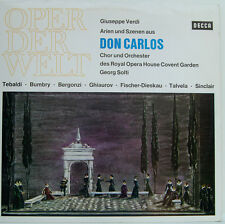 "VERDI DON CARLOS Georg Solti TEBALDI BUMBRY BERGONZI Ghiaurov 12 "" LP (D201)"