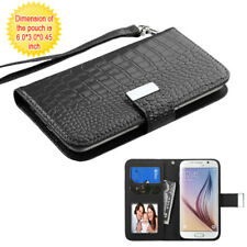 Universal Crocodile Leather Flip Credit Card Wallet Case Cover for Mobile PHONES LG G2