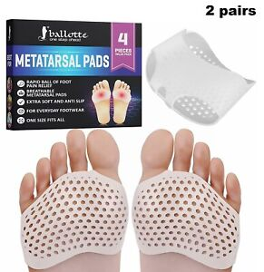 Metatarsal Pads Breathable Soft Gel Ball of Foot Cushion Heel Forefoot Callus
