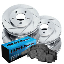 Full Kit PowerSport Slotted Brake Rotors Disc and Ceramic Pads Freestar,Monterey