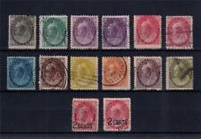 Canada 1898 1899 1903 U&1xM QV Victoria & Surch SC#74/84 (14 Stamps)#CA2473