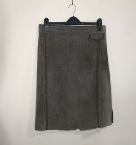 Betty Barclay Brown Suede Skirt, Fully Lined, Size UK 14, Excellent Condition