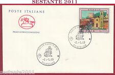 ITALIA FDC CAVALLINO GUBBIO PG PERUGIA 1989 ANNULLO FILATELICO U473