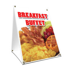 A-frame Sidewalk Sign Breakfast Buffet With Graphics On Each Side