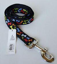 4' Dog Leash With Multi Color Bone Designs