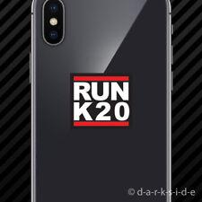 (2x) RUN K20 Cell Phone Sticker Mobile k20a k series jdm