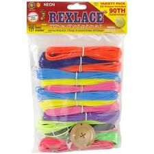 Rexlace Plastic Craft Lace Lanyard Cord Neon Colors Kit 450 Feet