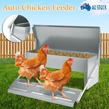 Automatic Feeder & Galvanized For Chicken Poultry Treadle Self Opening Coop