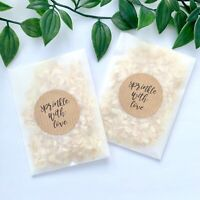 Ivory/White Natural Biodegradable Wedding Confetti Dried Petals Bags Packets Mix