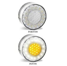 LED Bullbar Indicator Park & DRL Clear Amber Front Light Pair Fits ARB TJM 12v
