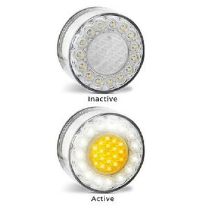 LED Bullbar Indicator Park DRL Clear & Amber Light Pair Suits Toyota Hilux,Prado