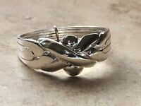 Puzzle ring 4 band. Four band silver puzzle ring. Turkish 925 silver wedding.