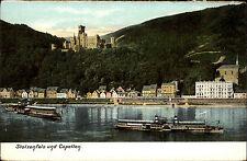 Koblenz ~1910 Schloss Stolzenfels Capellen Dampfer Schiffe Rhein Rhine Ships