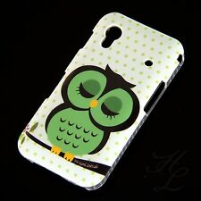 Samsung Galaxy Ace s5830 Hard portable Case Housse/étui de protection verte Arbre Hibou