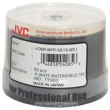 50 JVC Taiyo Yuden 16X Watershield White Inkjet DVD-R Japan [FREE Priority Mail]