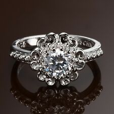 Les Bijoux CZ Round Filagree Ring ~ Size 8
