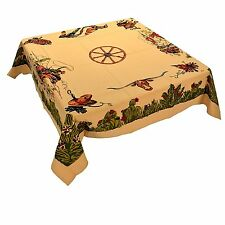 Moda Home Sliced Bread Vintage Home on the Range Western, Cowboy Tablecloth