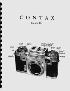 Zeiss Contax IIa and IIIa Service & Repair Manual photocopy