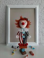 Handarbeit Puppe mit Ständer Harlekin handgemachte Stoffpuppe Handmade