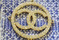 1 One  Chanel button 1 pieces gold  cc logo size 2  inch     emblem