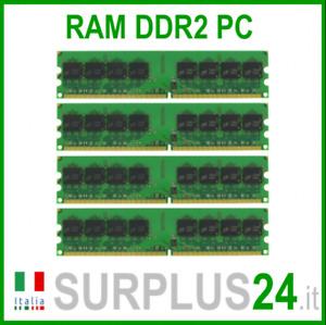 KIT RAM 8Gb (4x2Gb) PC2-6400U DDR2-800Mhz 240pin Memoria x DESKTOP No Ecc