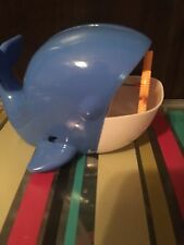 Battery Operated (4) Wand  Whale Character Bubble Machine,and liquid Included.